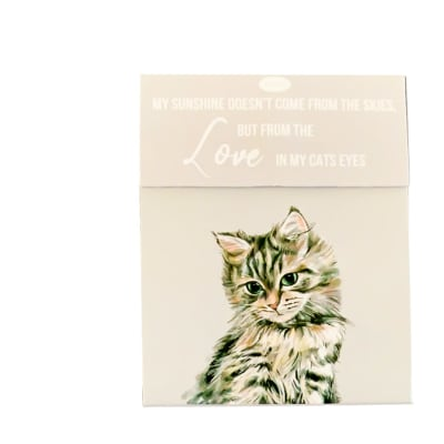 Paws For Thought Magnetic Notepad - My Sunshine Comes From the Love in My Cat's Eyes image