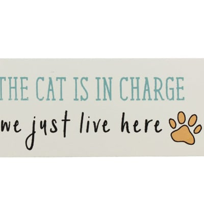 Paws For Thought (The Cat Is In Charge We Just Live Here) image