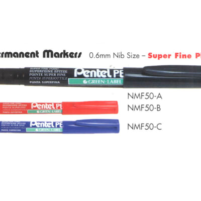 Permanent Markers - NMF50 Permanent Markers - Super Fine Plastic Tip image