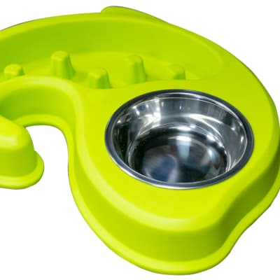 Pet bowl - Green 2in1  image