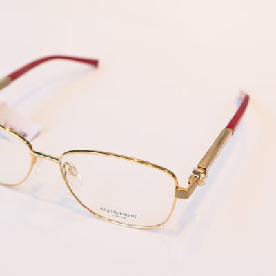 Ana Hickmann Frames, Gold with Red Tip image