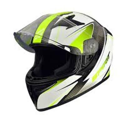 Motorcycle Helmet - Fluorescent Flip Up Motorcycle Helmet image