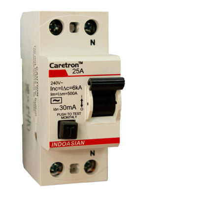 Industrial Controls - 25A 30MA DP Caretron RCCB image