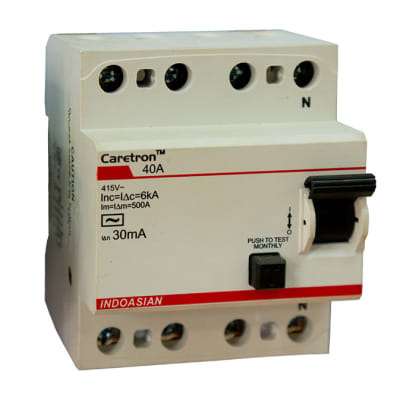Industrial Controls - 40A 30MA FP Caretron RCCB image