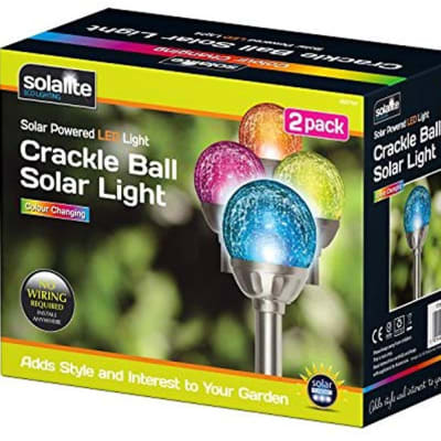 Crackle Ball Solar Light image