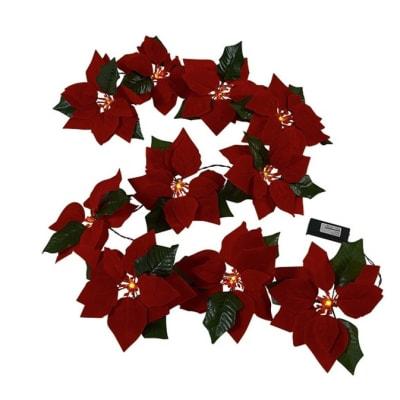 Poinsettia LED Garland image