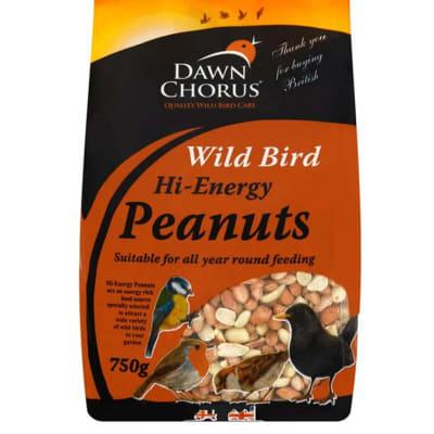 Bird Food - Dawn Chorus Wild Bird Hi-Energy Peanuts 750g image