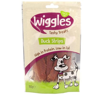 Dog Food -Wiggles Duck Strips 100g image