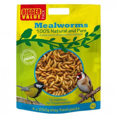 Bird Food -  Mealworms Bag 1kg image