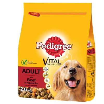 Dog Food - Pedigree Beef Dry 2.6kg image