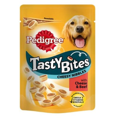 Dog Food - Pedigree Tasty Cheesy bites 140g image
