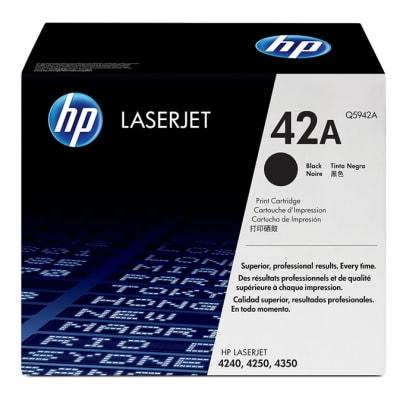 Printer Toner Cartridges - Hewlett Packard Q5942A (HP 42A) Black Toner Cartridge image