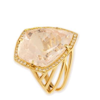 Rose Gold Quartz  Fancy Ring image