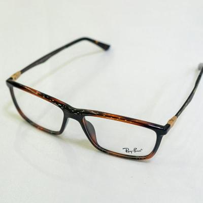 Ray-Ban Full Rim Eyeglass Frames - Black & Orange image