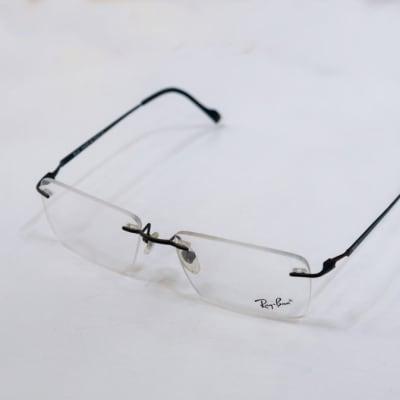 Ray-Ban Rimless Eyeglass Frames - Black  image