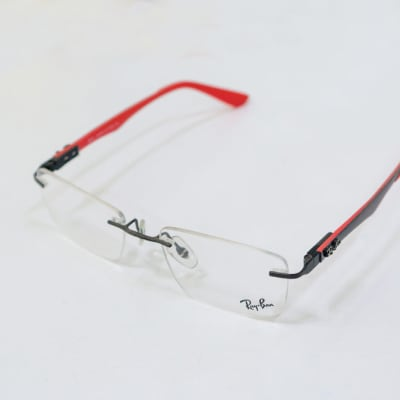 Ray-Ban Rimless Eyeglass Frames - Red  image