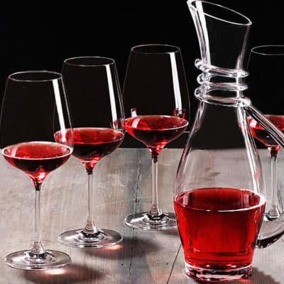 Red wine glass Set (6+1) - 1644623407 image