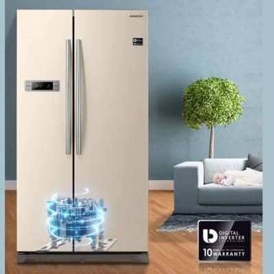 Refrigerators - Samsung side-by-side 545L 565L Refrigerator - Model RS542NCAESK image