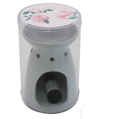 Air Freshener  Rose Flower's  Ceramic Oil Burner with 10ml Scented Oil image