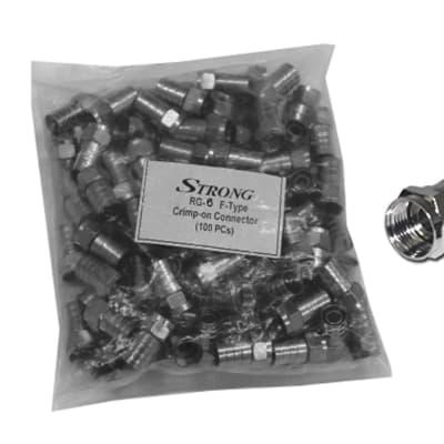 Crimp-on connectors RG-6 F-Type image