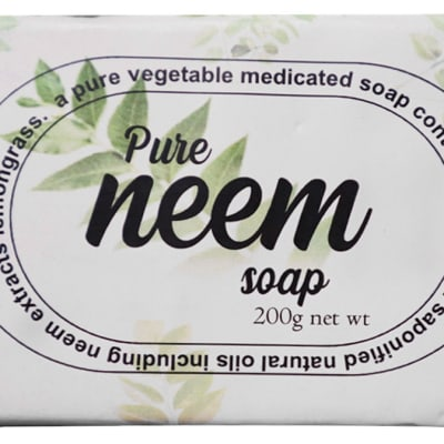 Pure Neem Soap Vegetable Medicated 200g image