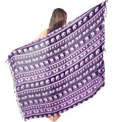 Sarong  Wrap around Purple & Black  image