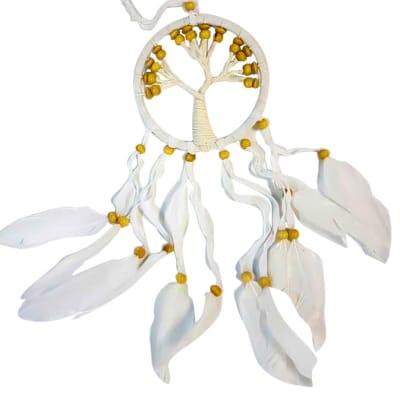 12cm White Tree Dreamcatcher  image