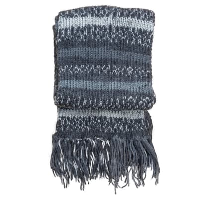 Scarf - Black, White and Grey Pattern image