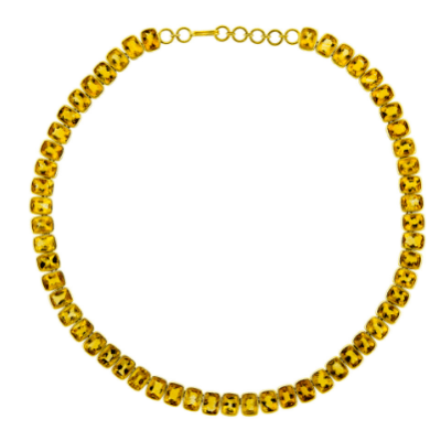 Links and Clasp  Citrine Channel Necklace image