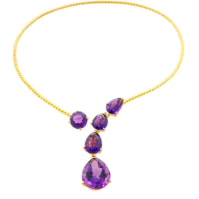 Choker Amethyst  Twisted Wire  image