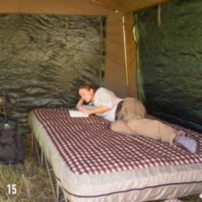 Camping beds image