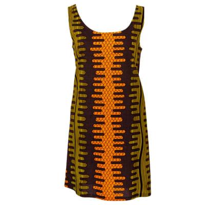Shift  Chitenge Dress Gold with Pockets  image