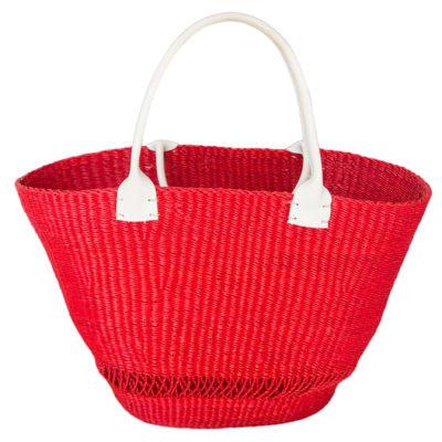 Shoulder Bag  Handmade  Red Tote Bag image