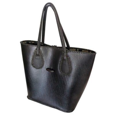 Shoulder Bag Leather  Black Casual Hand Bag  image