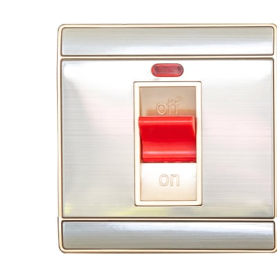 Silver Stove Switch with Indicator image