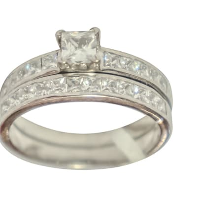 Silver Wedding Set Ring TRG-263 image