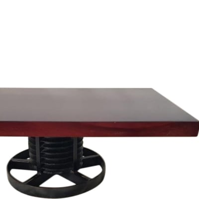 Solid Steel Pully Base coffee table image