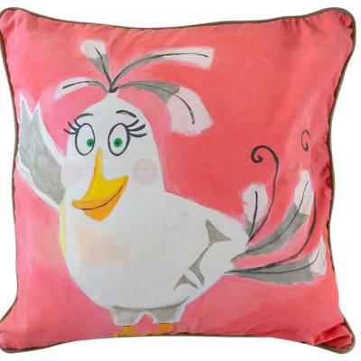 Cushion Sowa Cushion Covers White Twitter Bird image