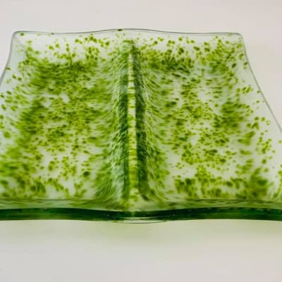 Speckled Green 2 in 1 serving dish image