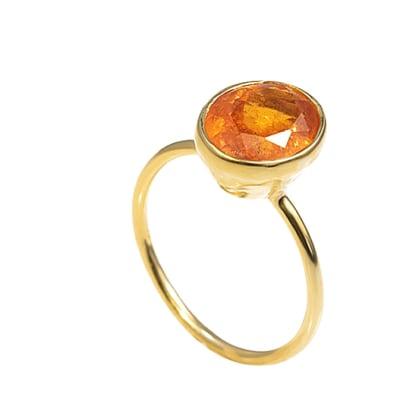 Yellow Gold Spessartite  Bezel Ring  image