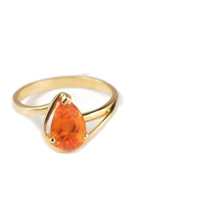Yellow Gold Spessartite  Budding Ring image