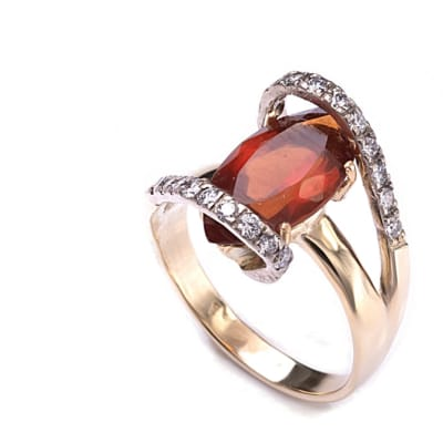 Yellow Gold Spessartite  Marquise Ring  image
