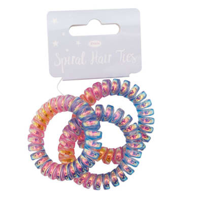 Unicorn Love Spiral Hair Ties image