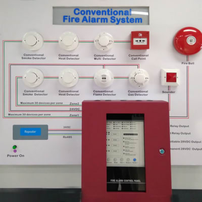 Fixed Fire Fighting Equipment - 4 Zone Fire Control Panel image