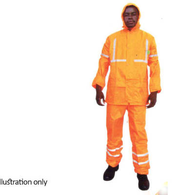 Water Proof Clothing - Hi Vis rain suits, Orange image