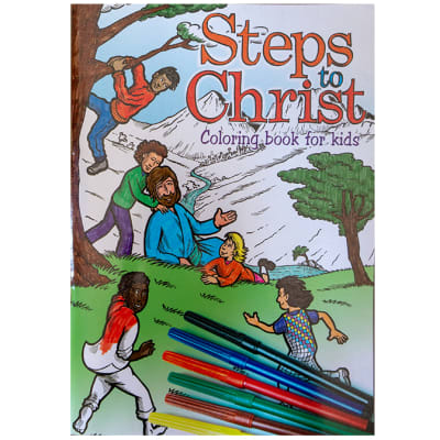 Steps to Christ Colouring Book for Kids image