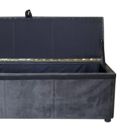 Storage Ottoman   Foot-End Cabinet  Grey Suede  image