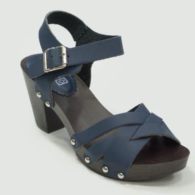 TS - Medium Chunky Heels Sandals Blue image