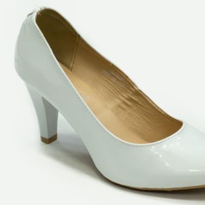 TS - Medium Chunky Heels White image