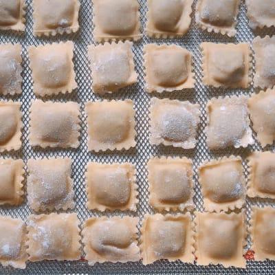 Tansi Kitchen -Fresh pasta: ravioli butternut + sage image